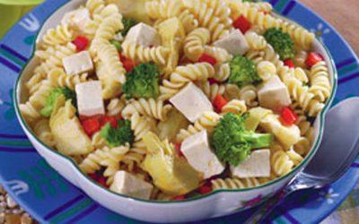 Tofu And Pasta Primavera Salad